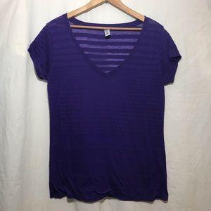 Victoria's Secret Tee Shop Purple Burnout T-Shirt